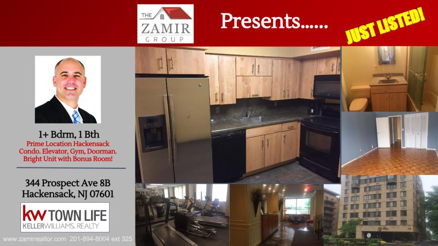 Just Listed Hackensack Condo for Sale Prospect Avenue Zohar Zack Zamir